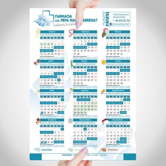 calendario iman 2017 empresa farmacia diseño personalizado farm pepamarti benissa graphicdesign en marinaalta alicante elcalaixgroc estudicreatiu 570x570 - FARMACIA PEPA MARTÍ