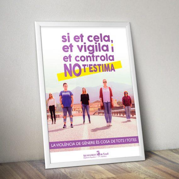 contralaviolenciadegenere AjuntamentXalo CartellsFotos elcalaixgroc dissenygrafic sietcelanotestima 25n 570x570 - Ajuntament Xaló