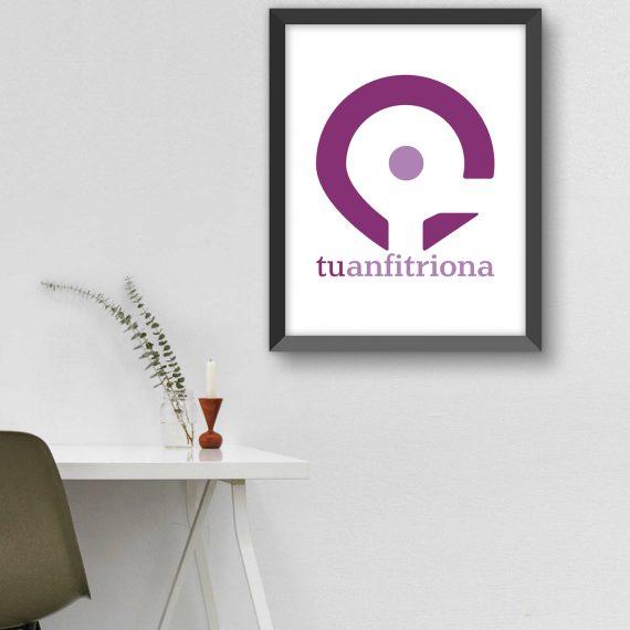logotipo marca tuanfitriona disenografico freelance disenadoragrafica elcalaixgroc benissa alicante 570x570 - Tu Anfitriona
